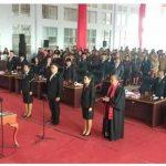 Bupati James Sumendap, Hadiri Rapat Paripurna DPRD Mitra